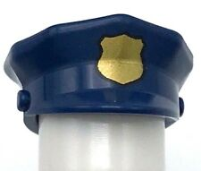 Lego New Dark Blue Minifigure Headgear Hat Police with Gold Badge Pieces