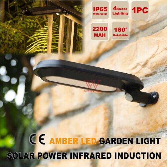 Motion Sensor Solar LED Light Outdoor Garden Wall Door Street Down Flood Lamp