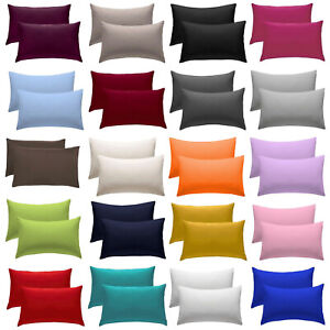2-X-Pillow-Case-Luxury-Fine-Poly-cotton-Housewife-Pair-Pack-Pillows-Cover-Cases