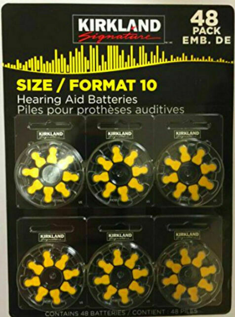 48 Hearing Aid Batteries Size 10 Kirkland 1 45 Volt Mercury W2 For Sale Online Ebay