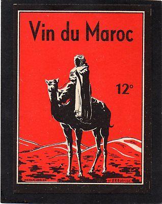 VIN MAROC VIEILLE ETIQUETTE VIN DU MAROC 12 °   §23//11//16§