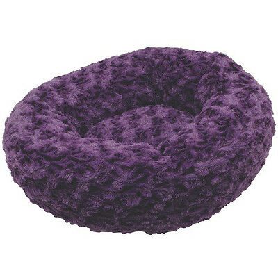 "Hagen Dogit DONUT STYLE Dog Bed 16"" Round x 5"" High PURPLE or Grey"