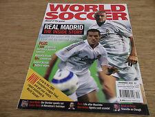 Football Magazine World Soccer November 2004 Real Madrid Tevez Zdenek Zeman