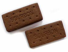 Set of 2 Bourbon biscuit fridge magnets. Very realistic novelty strong magnet.
