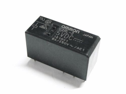2 scambi da circuito stampato RELE/' OMRON G2RL-2 Bobina 5Vdc 8A