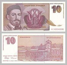 Jugoslawien / Yugoslavia 10 Novih Dinara 1994 p149 unz.