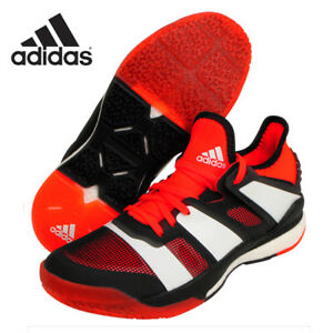 Image is loading adidas-Stabil-X-Unisex-Badminton-Shoes-Training-Red- a6a24c591