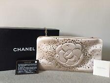 Auth NWT Chanel Camellia Strass Swarovsky Crystal rhinestone bag clutch  $1620