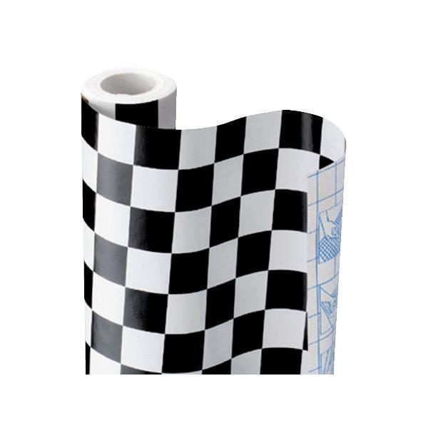 12 Pk Con-tact 18  x 9  Checker Boardwalk Autoadhesivo estante revestimiento 09f-c9p23-01