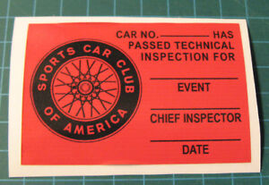 TRANS-AM-TECH-INSPECTION-VINYL-DECAL-STICKER-3-034-x-2-034-SCCA-CAR-RACING-SVRA