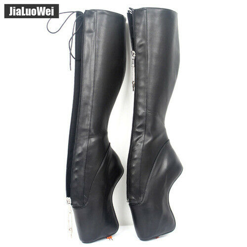 Details about  /2020 women new 7 inch super high heel ballet boots without heels