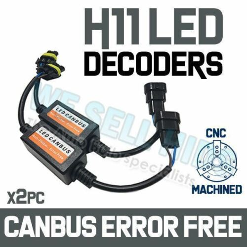 2X H11//H8 LED Headlight Canbus Error Free Warning Decoders Anti Flicker UK