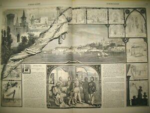 TURQUIE-CONSTANTINOPLE-PALAIS-SERAI-SULTAN-CAMP-CHALONS-MADAGASCAR-GRAVURES-1863