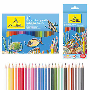 Adel-Watecolour-Pencils-Bright-Colours-Break-resistant-comes-in-Set-of-12-and-24