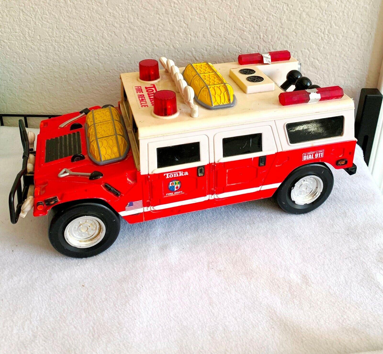online barato 2000 Hasbro Tonka fuego fuego fuego rescate Hummer Con Luces, Sonidos  Compra calidad 100% autentica