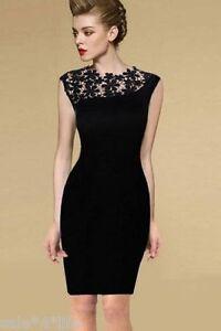 Schwarze kleid mit spitze