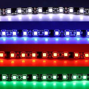 (13,29€/m) Fußraumbeleuch<wbr/>tung LED SMD Streifen rot weiß blau grün Strip stripe
