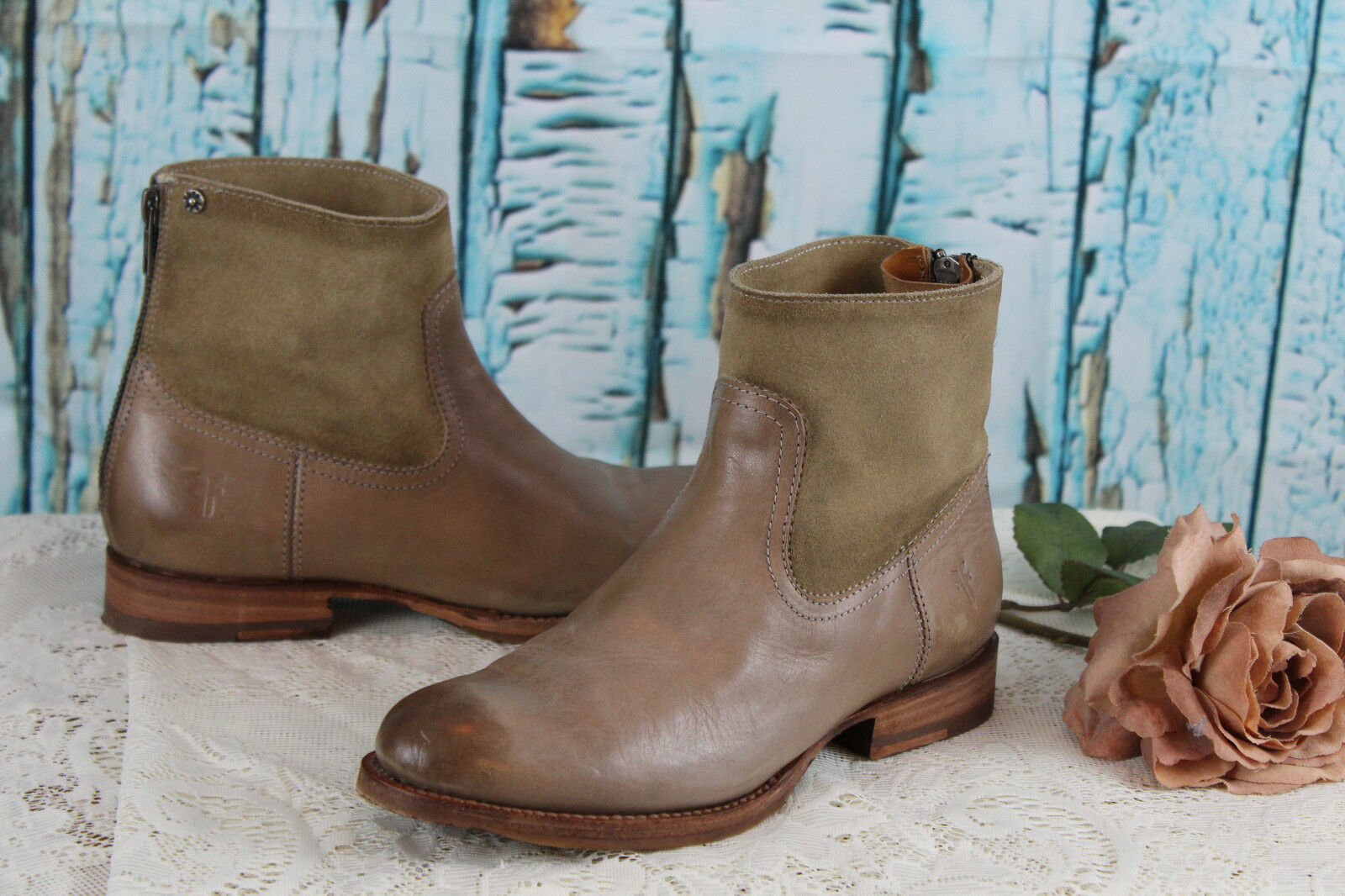 NICE  FRYE LEATHER ANKLE  BOOTS Booties 6.5B