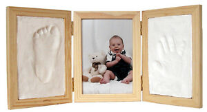 Natural CLAY KEEPSAKE & PHOTO DESKTOP FRAME KIT Child Hand Footprint Impression