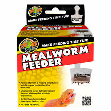 ZOO MED MEALWORM FEEDER REPTILE MEAL WORM FOOD FEEDING BEARDED DRAGON GARDEN