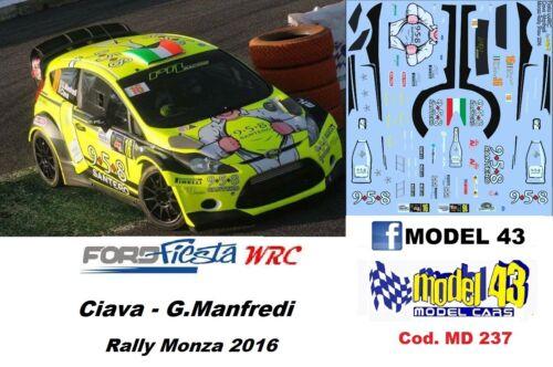 DECAL  1//43 Rally Monza    2016 FORD  FIESTA WRC CIAVARELLA