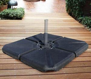 4x QMBasic Schirmständer Ampelschirm Gewicht 50 x 50 Platten befüllbar bis 130kg