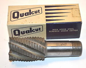 "1 NOS Qualcut UK 11//16/"" BALL NOSE 2 Flute HSS No4700 5//8/"" Screwed Shank END MILL"