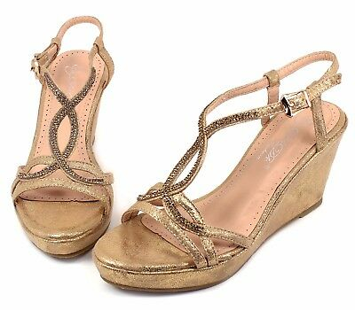 """Akina-3 Pumps Casual Cute Wedges Party Prom 3/"""" High Heel Women/'s Shoes Tan 6"""