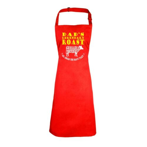 Dads Legendary Roast Funny Joke Family Adult Kitchen Cooking PREMIER APRON