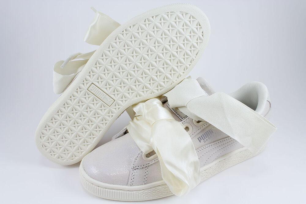 PUMA BASKET HEART NS TRIPLE blanc SPARKLE SATIN RIHANNA IRIDESCENT US Femme Taille