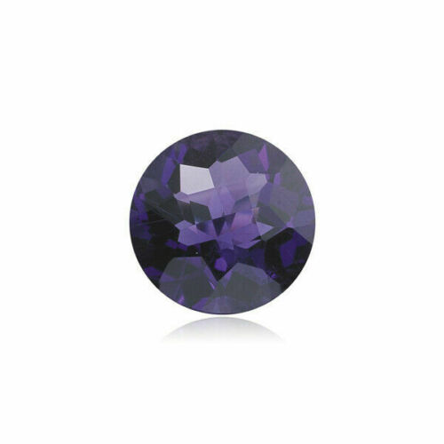 Natural Round Checkered Cut African Amethyst AAA Loose Gemstone from 5MM-9MM