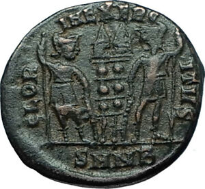 CONSTANTINE-I-the-GREAT-330AD-Authentic-Ancient-Roman-Coin-w-SOLDIERS-i66281