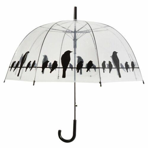 Esschert Design TP166 Ombrello trasparente con uccelli
