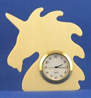 Unicorn Mini Clock - Hand Cut W/ Choice Of Insert