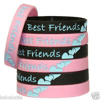 Best forever friend wristband silic bracelet/ wrist band bangle gift fashion lot
