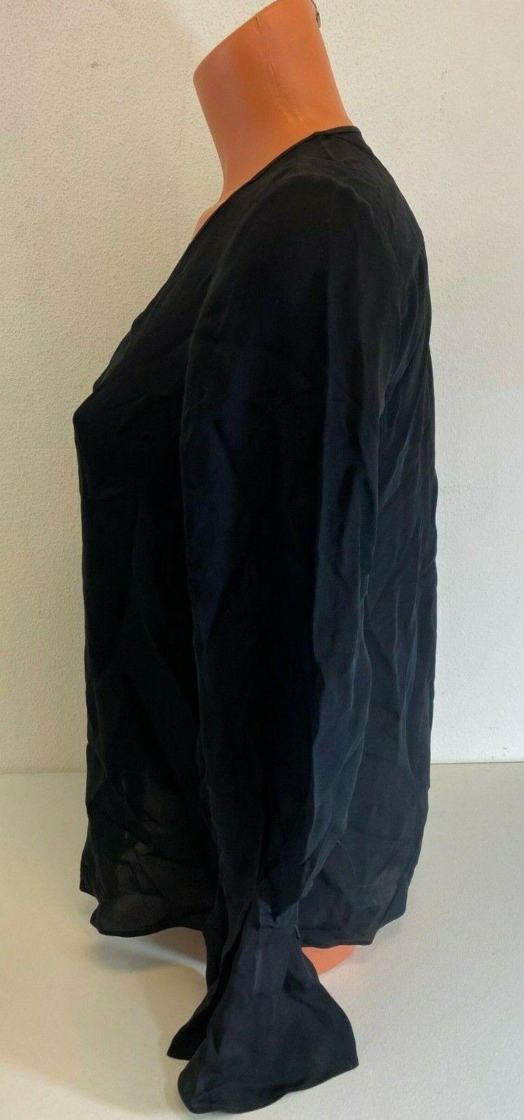 Estelle Womens Black Bell Sleeve V Neck Ribbed Blouse Top Plus 1X BHFO 5664
