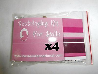 Lot of 4 Restringing Kits for American Girl Doll Repair Restring