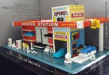 1959~MINT UNOPENED BOX~T.Cohn/Brumberger~SUPERIOR TIN LITHO  SERVICE STATION#866