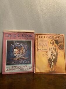 Set-Of-2-VTG-Bible-Pictograph-David-C-Cook-Sunday-School-Teaching-Aids