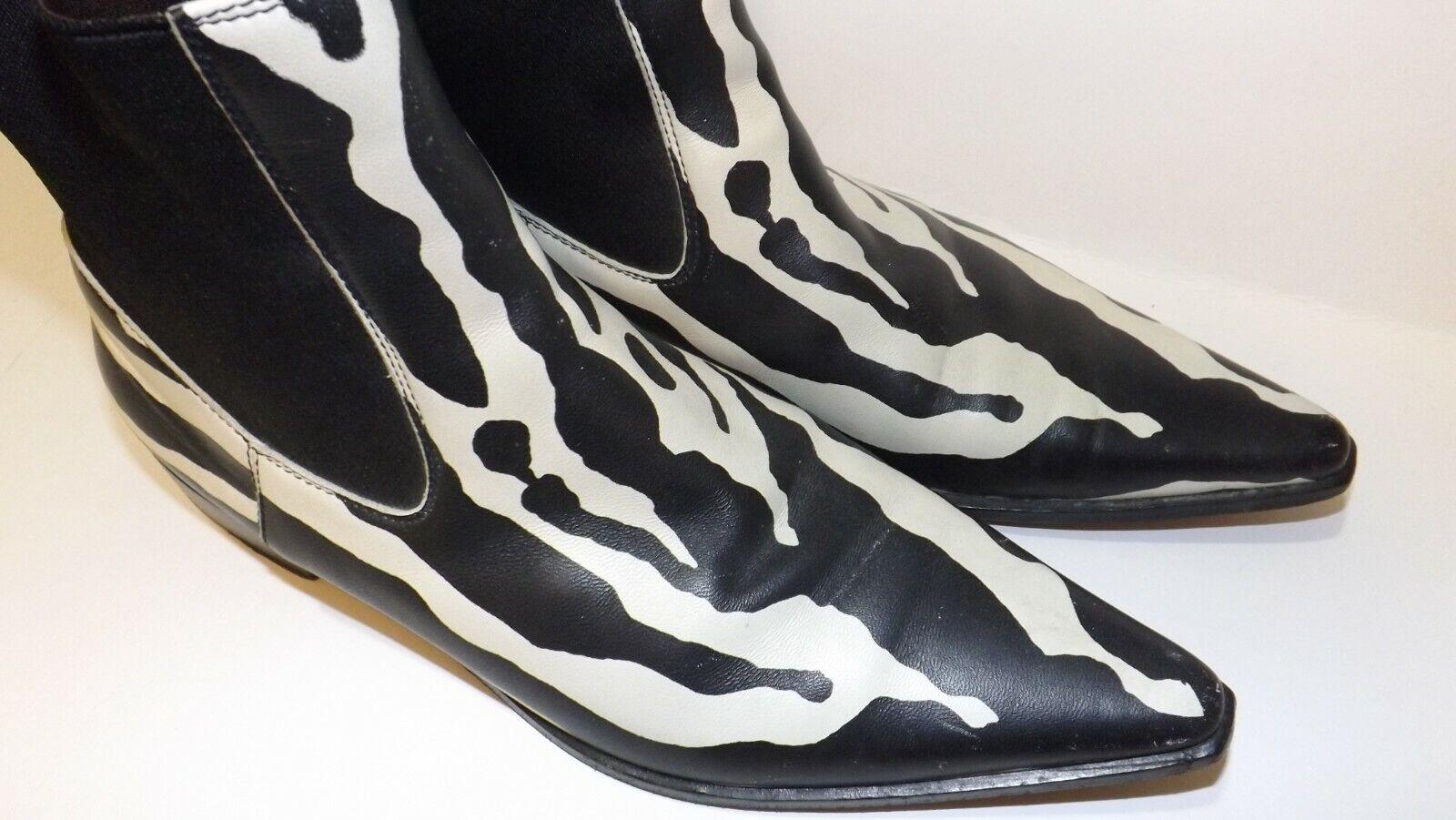 Women's Designer Boots Zebra Animal Print b/w Dol… - image 2