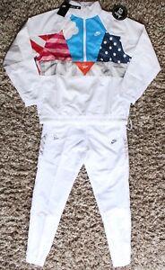 4352a8a70d Nike x Parra Tracksuit Half Zip Jacket White Size Small Medium S M ...