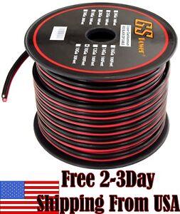 10-Ga-Gauge-Red-Black-Speaker-Wire-12V-Auto-Remote-Hookup-Power-Cable-CCA-100-FT