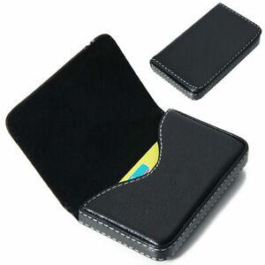 Visitenkartenbox-Visitenkarten-Etui-Business-ID-Card-Visitenkartenhalter-Leder