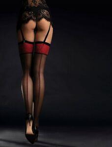 Fiore-Scarlett-Straps-Bas-Noir-S-L-20den-porte-jarretelles-Bas-Bas-36-46
