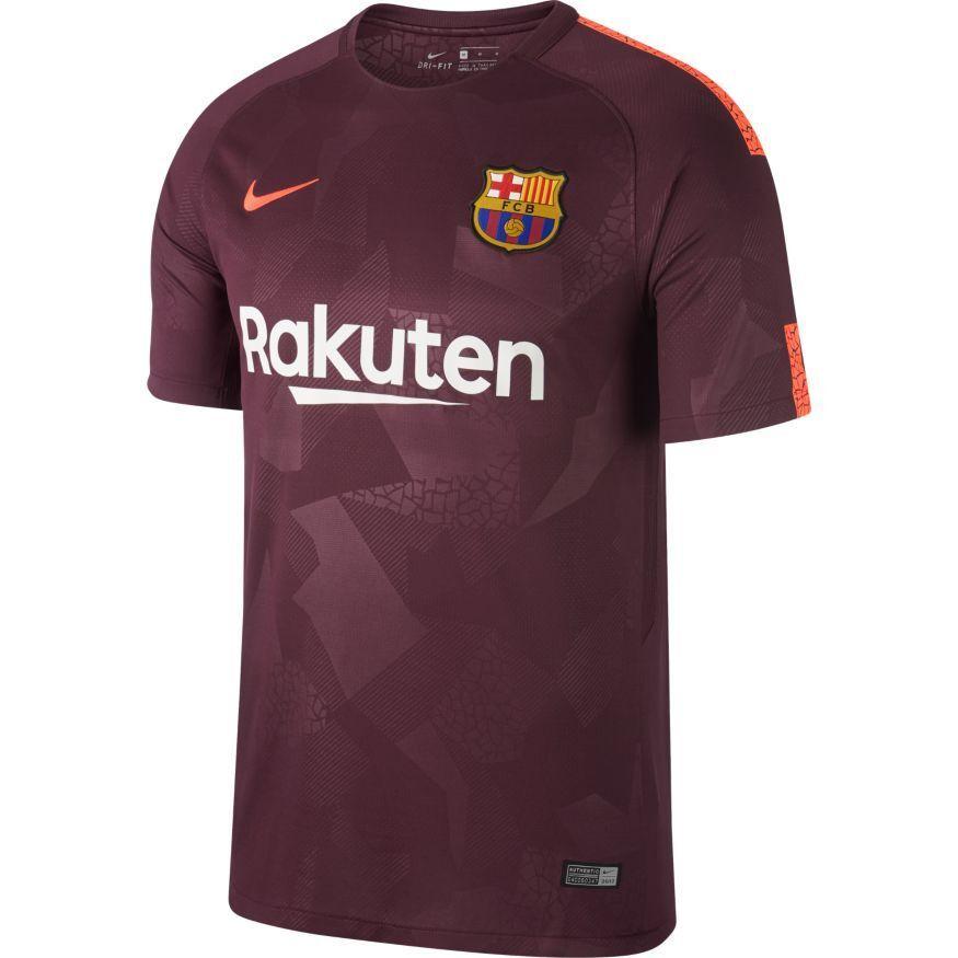 MENS FC BARCELONA 3RD JERSEY 17 18 MAROON CRIMSON 683 NIKE 847253 ... d75f6e40a