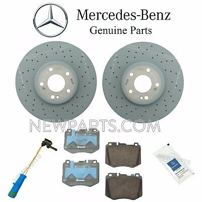 Front Brake Pad Set Ceramic Brembo with Clips and Sensor For Mercedes W245 B200