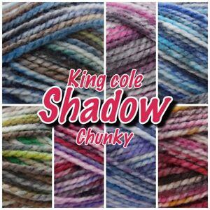 King-Cole-Shadow-Chunky-Acrylic-Variegated-Knitting-Yarn-100g-Ball