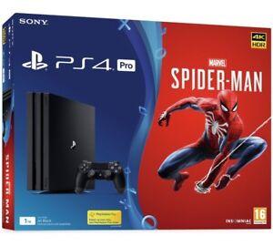 Sony-PLAYSTATION-4-PRO-1tb-UOMO-RAGNO-Pronto-Nuovo-di-zecca-per-essere-spediti