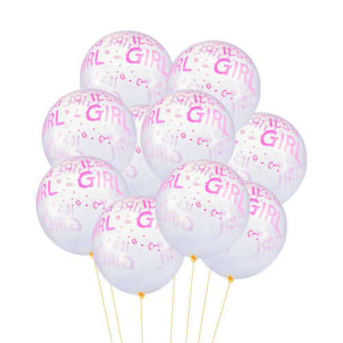10Pcs It/'s a Boy Or It/'s a Girl Latex Balloons for Baby Shower Party Decoration