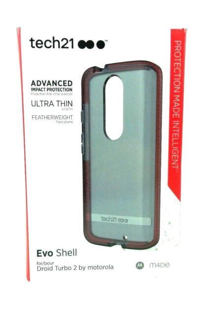best website 3741e 00564 tech21 EVO Shell Case for Motorola Droid Turbo 2 Smokey Red OEM